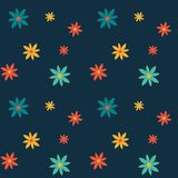 Abstract flowers seamless pattern Stock Images