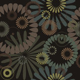 Abstract flowers, a seamless pattern Royalty Free Stock Photography