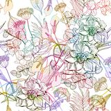 Abstract flowers seamless pattern. Vector, EPS10 Royalty Free Stock Image