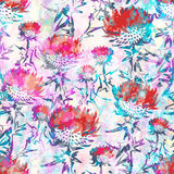 Abstract flowers seamless pattern. Vector, EPS10 Royalty Free Stock Photos