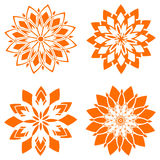 abstract flowers set for design. Royalty Free Stock Image