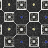 Abstract flowers and squares on pattern Royalty Free Stock Photo