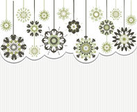 Abstract flowers on striped background Royalty Free Stock Image
