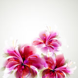 Abstract flowers. Tender background with pink abstract flowers Royalty Free Stock Photography