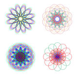 Abstract flowers. Stock Photos