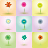 Abstract Flowers vector backgrounds. Illustrated with Illustrator CS and EPS10. Vector with transparency Stock Images