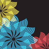 Abstract flowers. Vector format. Stock Photos