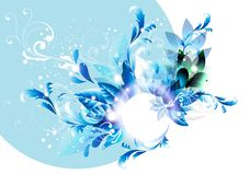 Abstract flowers vector illustration Royalty Free Stock Photo