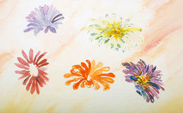 Watercolor painting, flowers Royalty Free Stock Photo