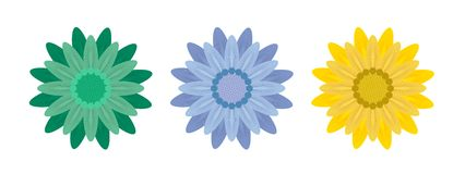 Abstract Flowers on White Background. Vector Royalty Free Stock Images