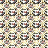 Abstract flowers on a yellow background seamless pattern vector illustration. (vector eps 10 royalty free illustration