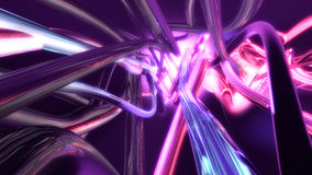 Abstract flowing colorful lines Stock Image