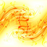 Abstract flowing fire background with notes Royalty Free Stock Photos