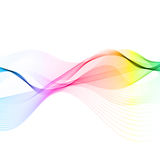 Abstract flowing lines. Abstract background with flowing lines design royalty free illustration