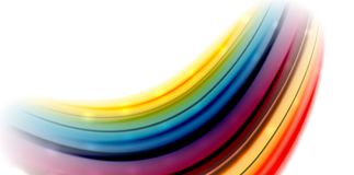 Abstract flowing motion wave, liquid colors mixing, vector abstract background. With light dots effect Royalty Free Stock Images