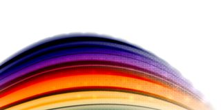 Abstract flowing motion wave, liquid colors mixing, vector abstract background. With light dots effect Stock Photos