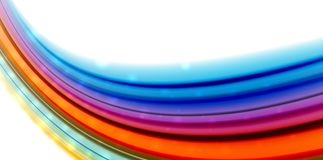 Abstract flowing motion wave, liquid colors mixing, vector abstract background. With light dots effect Stock Image