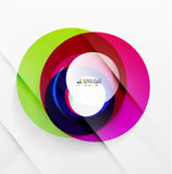 Abstract flowing shapes modern colorful design Stock Photo