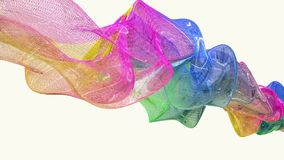 Abstract flowing substance in various colors stock footage