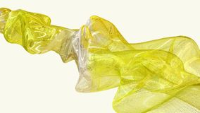 Abstract flowing substance in yellow stock footage