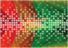 Abstract flowing vector background with bright mosaic tiles Stock Photo