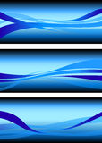 Abstract flowing water wave vector background design element Stock Image