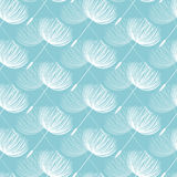 Abstract fluffy dandelion  seamless pattern. Vector illust Royalty Free Stock Photos