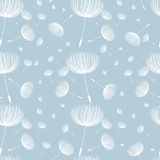 Abstract fluffy dandelion  seamless pattern. Vector illust Royalty Free Stock Photo