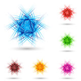 Abstract fluffy star. Abstract fluffy star with color set on white Stock Images