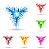 Abstract fluffy star. Abstract fluffy figure with color variations on white Royalty Free Stock Image