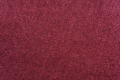 Abstract fluffy texture of textile fabric of claret color Royalty Free Stock Image