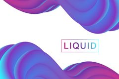 Abstract fluid 3d shapes vector trendy liquid colors backgrounds set. Colored fluid graphic composition illustration.  Stock Photo