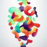 Abstract fluid geometric shapes vector background. Abstract realistic fluid shapes on white vector background Vector Illustration