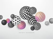 Abstract fluid geometric shapes vector background. Abstract realistic geometric shapes on white vector background stock illustration