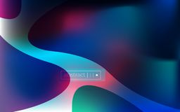 Abstract fluid wavy blurred background royalty free illustration
