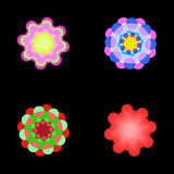Abstract fluorescent flowers Stock Photography