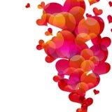 Abstract fly hearts. stock photo
