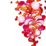 Abstract fly hearts. stock photos