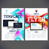 Abstract Flyer, Brochure Design Templates. Stock Photo
