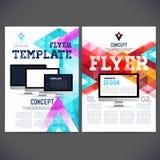 Abstract Flyer, Brochure Design Templates. Stock Photo