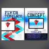 Abstract Flyer, Brochure Design Templates. Stock Images