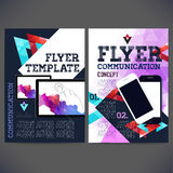 Abstract Flyer, Brochure Design Templates. Royalty Free Stock Images