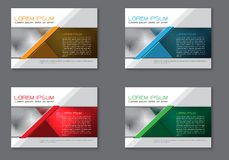 Abstract flyer brochure set collection template for business on grey design modern vector vector illustration