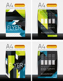 Abstract flyer - brochure templates set Royalty Free Stock Photography