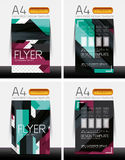 Abstract flyer - brochure templates set Royalty Free Stock Images