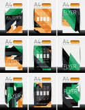 Abstract flyer - brochure templates set Stock Photography