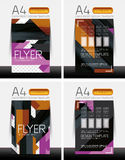 Abstract flyer - brochure templates set Stock Image