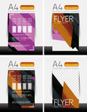 Abstract flyer - brochure templates set Stock Photo
