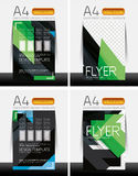 Abstract flyer - brochure templates set Royalty Free Stock Photo