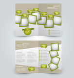 Abstract flyer design background. Bi-fold brochure template. Royalty Free Stock Photo